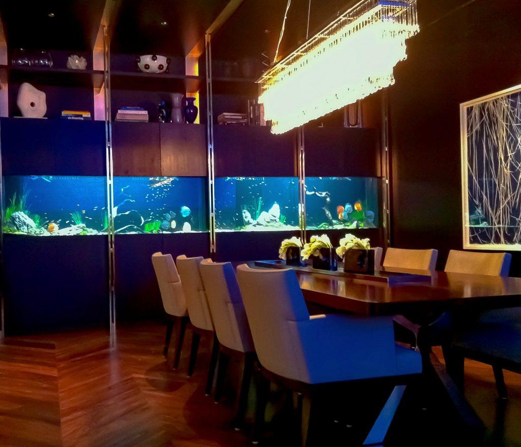 custom aquariums and dining room