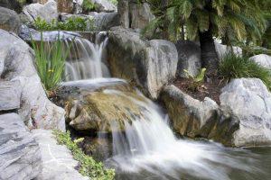 outdoor waterfall